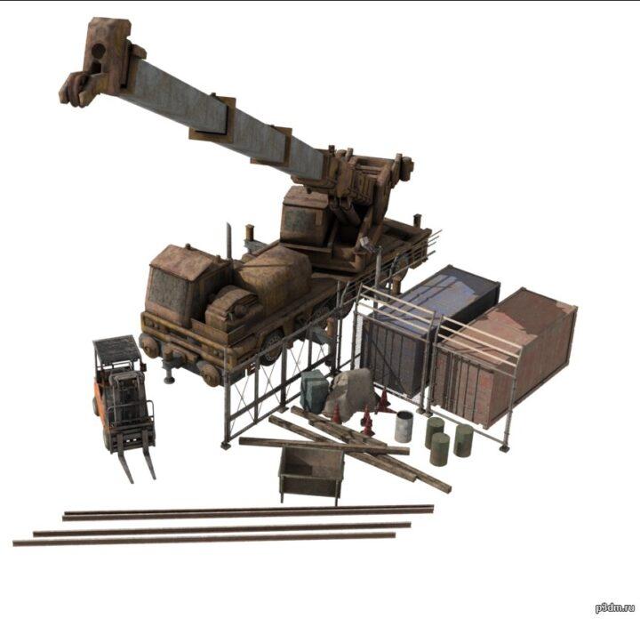 Строительные пропы 3D Model