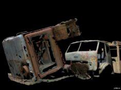 The cab car is broken 3D Model