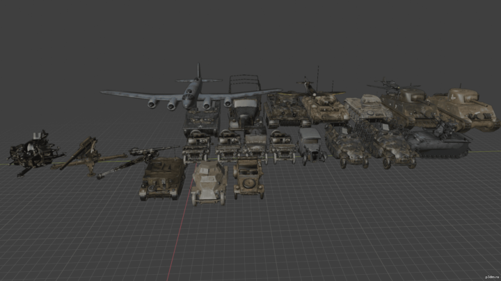 Vehicles CoD 2 3D Model