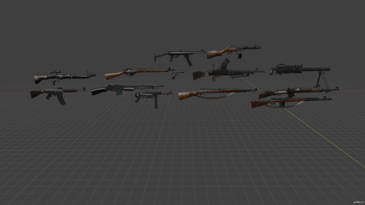Weapons CoD 2 3D Model