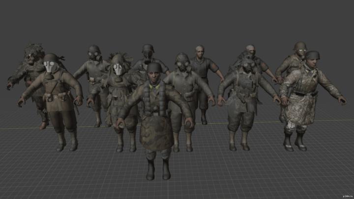 Characters CoD WaW 3D Model