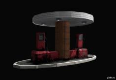 Gaz station 3D Model