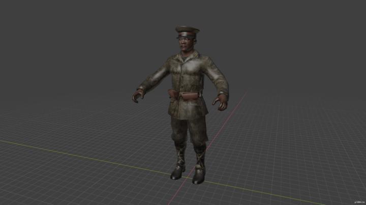 Imperial japanese officer 3D Model