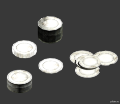 Kitchen Plates 3D Model
