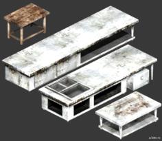 Kitchen Tables 3D Model