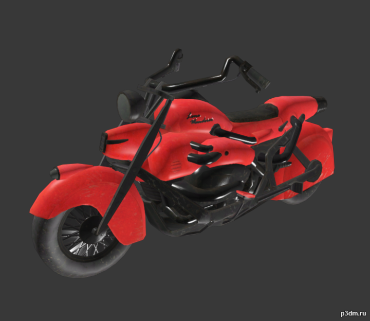 Motorcycle (new & old) 3D Model