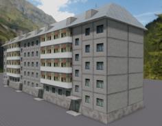 Russian building 3D Model
