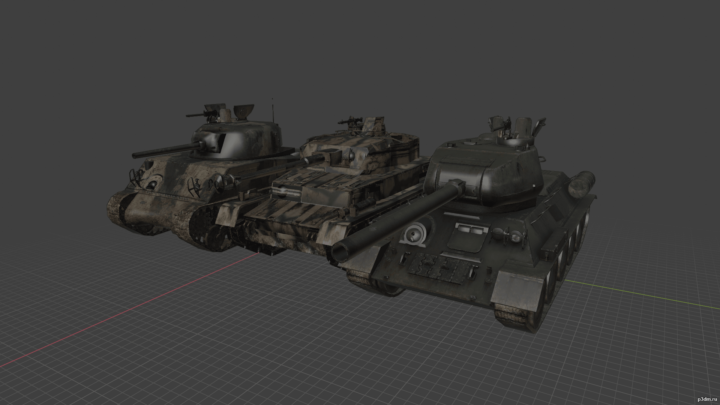 Tanks MP 3D Model
