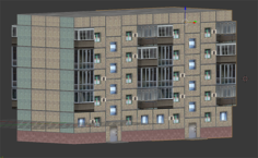 Panel building 3D Model