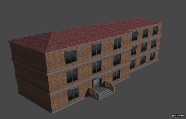 Школа 3D Model