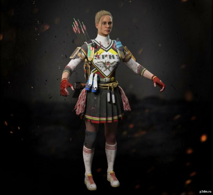 Outrider The Cheerleader 3D Model
