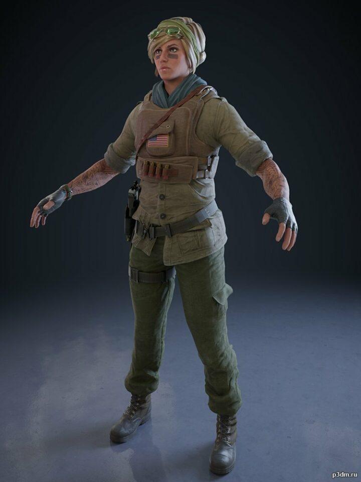 Valkyrie War Photographer Elite 3D Model