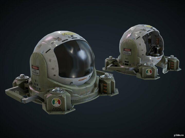 """Armored Camera """"Evil Eye"""" 3D Model"""