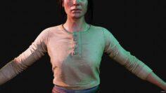 Female Hunter 3D Model