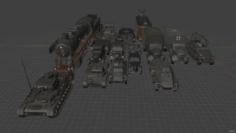 Vehicles Partisans 1941 3D Model