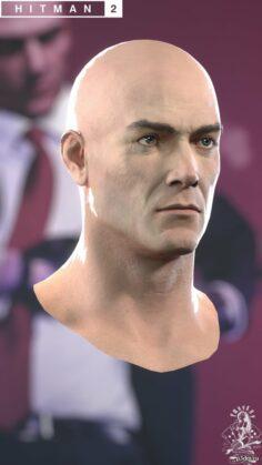 Agent 47's Head H2 3D Model