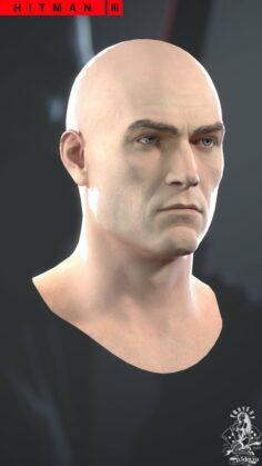 Agent 47's Head H3 3D Model