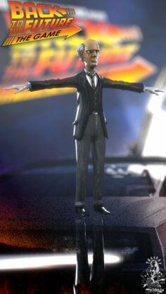 Doc Brown Alt CB Tesla 3D Model