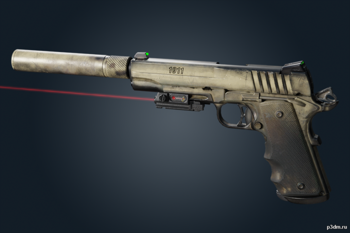 1911 TACOPS (with skins) 3D Model