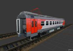 РЖД ЭД4М-0431 вагон 3D Model