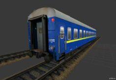 Купейный вагон « УЗ » 3D Model