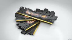 G Skill Ripjaw 4 Black RAM 3D Model