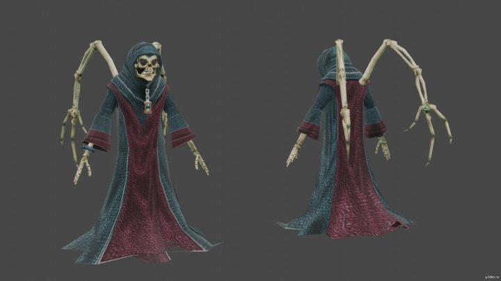 Grim Ripper 3D Model