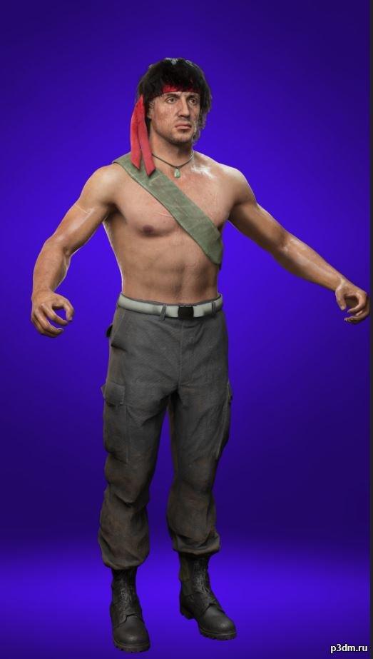John Rambo 3D Model