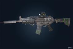 K1A (v2) – Rainbow Six Siege 3D Model