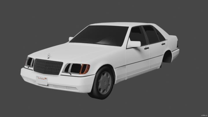 Mercedes-Benz 600 SEL (W140) 3D Model