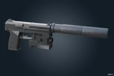 MK 23 Echelon – Ghost Recon Breakpoint 3D Model