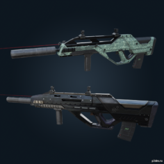 Spear .308 (with skins) – Rainbow Six Siege 3D Model