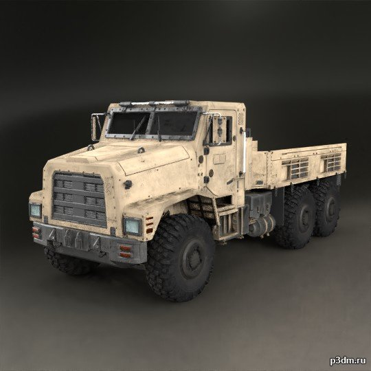 Cargo Truck (Big Bertha) 3D Model
