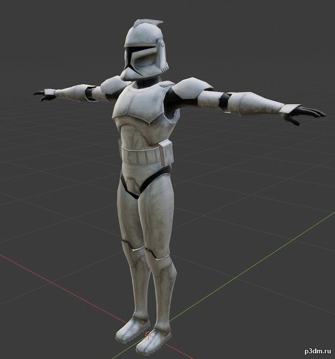 "Clonetrooper ""Rookie"" 3D Model"